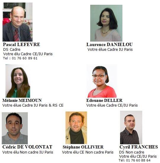 Equipe CFE CGC sites de Paris